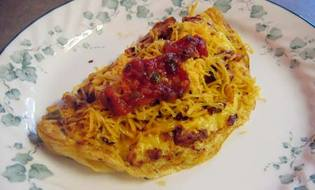 Omelette with cheese :D solution