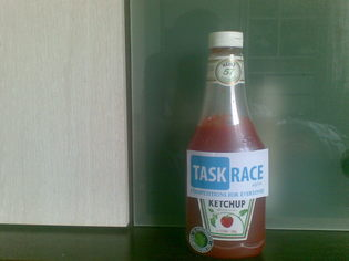 It's a taskrace ketchup :D solution